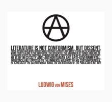 Ludwig von Mises Dissent Libertarian Revolution Literature Kids Clothes