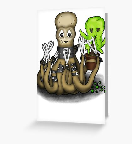 Eduardo Scissor Tentacles Greeting Card