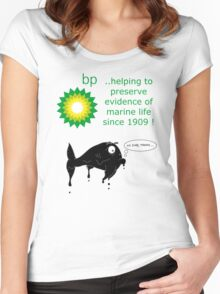 BP - just trying to help out Women's Fitted Scoop T-Shirt