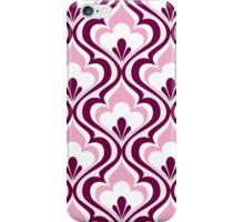 Light Pink Geometric Floral Mod Contemporary Retro - Small Print iPhone Case/Skin