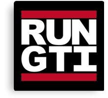 RUN GTI Canvas Print