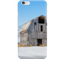 Snowy Farm Scene iPhone Case/Skin