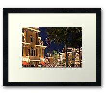 Disneyland Ballon on Main Street Framed Print