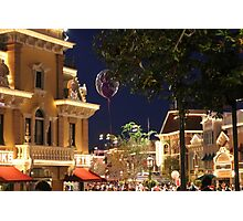 Disneyland Ballon on Main Street Photographic Print
