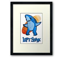 Left Shark Cartoon Stylized Framed Print