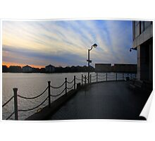 Morning Light at Millwall Docks Poster