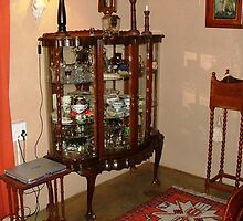 1950's Imbuia Display cabinet by Maree  Clarkson