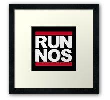 RUN NOS Framed Print