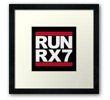 RUN RX7 Framed Print