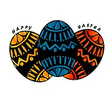 Colorful Happy Easter Eggs Photographic Print