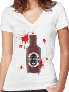 B Negative Women's Fitted V-Neck T-Shirt