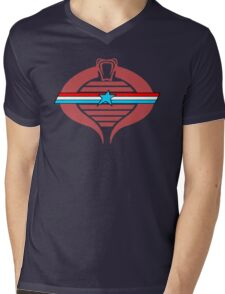 G.I. Cobra Logo Mens V-Neck T-Shirt
