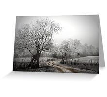 the long and winding road (on a chilly day) Greeting Card