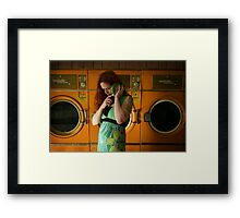 pull into shape and lay flat Framed Print