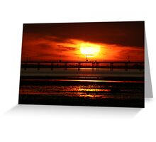 Sunset over Southend Pier Greeting Card