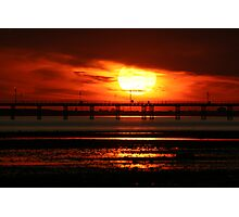 Sunset over Southend Pier Photographic Print
