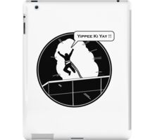 Yippee Ki Yay - with speech bubble iPad Case/Skin