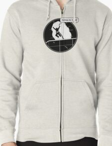 Yippee Ki Yay - with speech bubble Zipped Hoodie