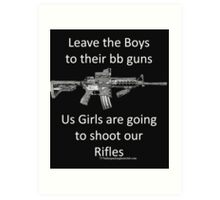 bb guns Art Print