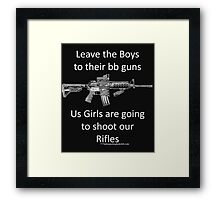 bb guns Framed Print