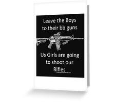 bb guns Greeting Card