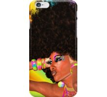 Disco Queen with Retro Afro Hairstyle! iPhone Case/Skin