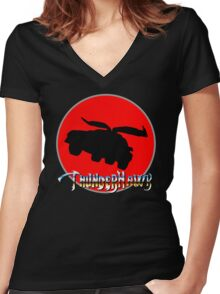 ThunderHawk Ho! Women's Fitted V-Neck T-Shirt