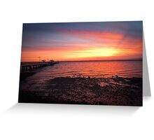 Woody Point Sunset Greeting Card