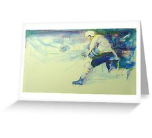 Hockey Shot Greeting Card