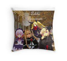 Lolita Princesses Throw Pillow