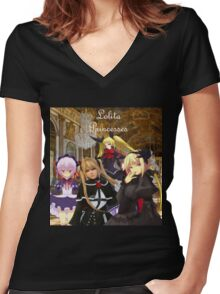 Lolita Princesses Women's Fitted V-Neck T-Shirt