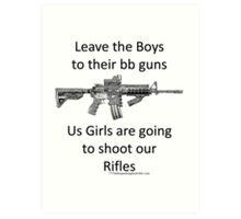 bb guns b Art Print