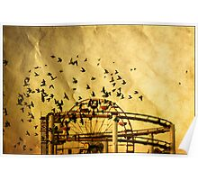 Birds on a paper Poster