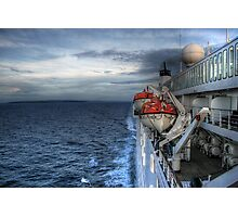 the ship leaves at night Photographic Print