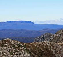 Great Western Tiers from Marion's Lookout  - Tasmania by Ruth Durose