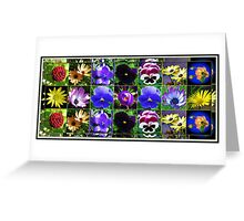 Little Beauties Collage in Mirrored Frame  Greeting Card