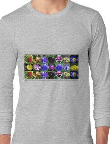 Little Beauties Collage in Mirrored Frame  Long Sleeve T-Shirt