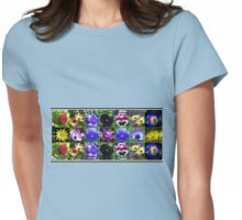Little Beauties Collage in Mirrored Frame  Womens Fitted T-Shirt