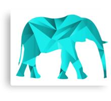 Teal Elephant Canvas Print