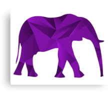 Purple Elephant Canvas Print