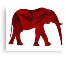 Red Elephants Canvas Print