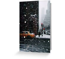 New York Snow Greeting Card
