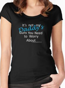 Daddy's guns Women's Fitted Scoop T-Shirt