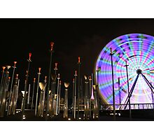 Federation Field of Bells and Ferris Wheel  Photographic Print