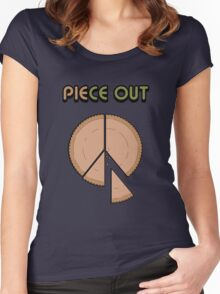 Piece Out Man Women's Fitted Scoop T-Shirt