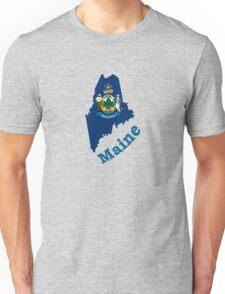 maine state flag Unisex T-Shirt