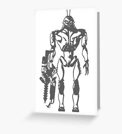Prawn Soldier Greeting Card