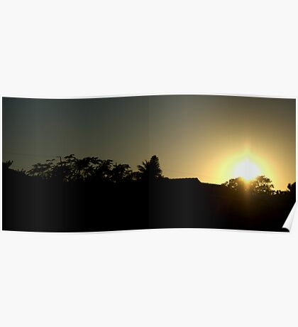 Sunset on Sabur Ct Poster