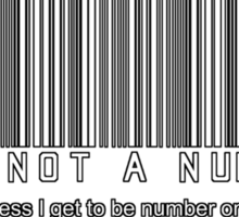 not a number, unless.. Sticker