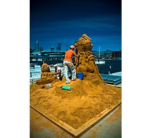Sand sculptures  Photographic Print